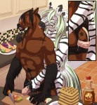 anal anthro duo equine hair horse hyperfreak666 jack_hyperfreak kitchen male male/male mammal nude penis ryan_moonshadow sabretoothed_ermine sex waffles zebra  Rating: Explicit Score: 12 User: ListerTheSquirrel Date: November 28, 2015