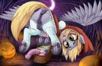 2017 anatomically_correct anatomically_correct_pussy animal_genitalia animal_pussy anus blonde_hair blush butt clothing cutie_mark dankflank derpy_hooves_(mlp) dildo dock equine equine_pussy feathered_wings feathers female feral food friendship_is_magic fruit hair halloween hi_res holidays hooves legwear mammal muffin my_little_pony night open_mouth outside pegasus pumpkin pussy sex_toy solo teats underhoof wingsRating: ExplicitScore: 62User: lemongrabDate: October 31, 2017