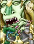 2004 anthro armor blonde_hair blue_scales chopsticks claws clothed clothing dragon duo ear_piercing eating english_text female green_eyes green_scales hair horn imminent_vore jewelry long_hair markie nina open_mouth piercing scalie sharp_teeth size_difference slit_pupils teeth text toe_claws tree vore yellow_eyes   Rating: Questionable  Score: 0  User: GameManiac  Date: April 15, 2015