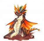 ambiguous_gender cub cute dragon horn kneeling kosian looking_at_viewer monster_hunter plain_background red_eyes rukodiora scalie solo video_games white_background wings young   Rating: Safe  Score: 35  User: queue  Date: May 05, 2011