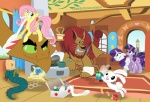 angel_(mlp) band-aid bandage blue_eyes cockatrice_(mlp) equine female feral fluttershy_(mlp) friendship_is_magic glancojusticar group hair horn hydra long_hair mammal manticore my_little_pony parasprite_(mlp) pegasus pink_hair rarity_(mlp) short_hair twilight_sparkle_(mlp) unicorn wings  Rating: Safe Score: 5 User: Rina Date: July 19, 2011