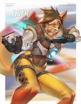 2015 anthro armor canine clothing cyan_eyes dual_wielding female gun handgun holding_weapon mammal miles_df overwatch pistol ranged_weapon science_fiction solo suit tight_clothing weapon  Rating: Safe Score: 14 User: Numeroth Date: October 09, 2015