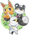 animal_crossing anthro bandage blush canine cat dog feline female glowing glowing_eyes group kamijou_shoutarou looking_at_viewer mammal nintendo orange_eyes rodent squirrel tangy_(animal_crossing) video_games  Rating: Safe Score: 5 User: Juni221 Date: August 11, 2014