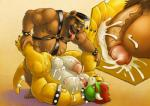 anal anal_penetration balls bear beard belly bowser brown_fur chubby cigar cum cum_on_stomach cumshot duo facial_hair fur furryrevolution green_eyes hat leather male male/male mammal mario_bros mastertrucker musclegut nintendo nipples orgasm penetration penis smoking tongue tongue_out uncut video_games  Rating: Explicit Score: 13 User: slyroon Date: October 11, 2015