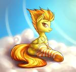 2014 anus clothing cloud cutie_mark equine female feral friendship_is_magic fshydale fur hair legwear looking_at_viewer mammal my_little_pony orange_hair outside pegasus pussy quadruped sky socks solo spitfire_(mlp) striped_legwear wings wonderbolts_(mlp) yellow_fur   Rating: Explicit  Score: 25  User: lemongrab  Date: November 19, 2014