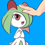 ambiguous_gender bambybunnydoll_(artist) clothing cute dress green_hair hair horn human humanoid kirlia mammal nintendo open_mouth plain_background pokémon red_eyes short_hair standing video_games  Rating: Safe Score: 6 User: DeltaFlame Date: April 05, 2015""