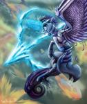 2015 armor crying equine female feral fight fire flying friendship_is_magic horn inuhoshi-to-darkpen mammal my_little_pony princess_cadance_(mlp) sky tears winged_unicorn wings   Rating: Safe  Score: 9  User: Robinebra  Date: February 23, 2015