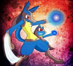 ambiguous_gender aura duo lucario nintendo pokémon red_eyes riolu video_games   Rating: Safe  Score: 8  User: SnoopyYiffer05  Date: May 21, 2013
