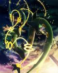 2015 ambiguous_gender butt claws cloud dragon feral legendary_pokémon looking_at_viewer looking_back mega_evolution mega_rayquaza nintendo pokémon rayquaza scalie sky solo star sunlight video_games 空豆_(artist)   Rating: Safe  Score: 4  User: N7  Date: February 08, 2015