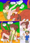 bestiality brown_eyes brown_hair claws clothed clothing comic cunnilingus digimon digiphilia duo english_text erection female feral guilmon hair human human_on_feral interspecies jeri_katou licking loli male male/female mammal oral orgasm outside penis prophet red_body scalie sex shota takato_matsuki text tongue tongue_out vaginal voyeur yellow_eyes young  Rating: Explicit Score: 4 User: sh4dowpik4chu Date: June 13, 2015