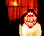 ambiguous_gender canine creepypasta dog edit grin high_octane_nightmare_fuel husky inside looking_at_viewer male mammal meme menacing nightmare_fuel shopped skinned smile smile.dog solo stare teeth unknown_artist window  Rating: Questionable Score: 3 User: misspriss Date: March 13, 2010