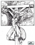 artist; bdsm bondage bound canine captured chain crucifixion female fox mammal monochrome muff nipples peril pussy ronin solo   Rating: Explicit  Score: 2  User: Ronin  Date: May 06, 2015