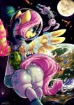 2013 angel_(mlp) anus arthropod blue_eyes butt butterfly camel_toe carrot clothing dimwitdog duo equine female feral floating fluttershy_(mlp) friendship_is_magic fur hair hi_res horse insect lagomorph magic mammal moon my_little_pony pegasus pink_hair planet plant pony pussy rabbit space spacesuit tight_clothing white_fur wings yellow_fur   Rating: Explicit  Score: 25  User: Falord  Date: October 05, 2013