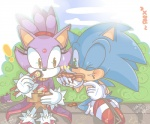 anthro blaze_the_cat chibiirose chili_dog duo eating feline female food hedgehog male mammal sitting sonic_(series) sonic_the_hedgehog sushi   Rating: Safe  Score: 0  User: RadDudesman  Date: January 20, 2014