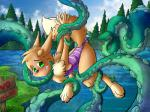 4_toes anthro black_nose blush bound brunn-bear chest_tuft claws clothing eevee fluffy fluffy_tail green_eyes hands_behind_back imminent_rape lake looking_back nintendo pine_trees pokémon pokémon_(species) raised_tail sign swimsuit tentacles toes tree tuft video_games worriedRating: QuestionableScore: 1User: H202Date: November 15, 2017