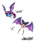 2014 feral hair nintendo open_mouth plain_background pokémon purple_hair teeth twitch_plays_pokemon vaanrose video_games white_background zubat   Rating: Safe  Score: 1  User: Lizardite  Date: February 21, 2014