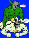 anal armor body_hair chest_hair clothed clothing dragon duo hi_res lagomorph male male/male mammal muscular rabbit rg01_(undertale) rg02_(undertale) topless undertale video_games  Rating: Explicit Score: 2 User: Captcha142 Date: March 27, 2016