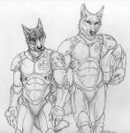 2014 anthro armor canine costume duo fur helmet klaus luther male mammal pacific_rim rukis shaded sketch wolf   Rating: Safe  Score: 2  User: TheGreatWolfgang  Date: November 01, 2014