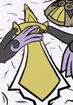 aegislash atendedordeboludos bed blush female melee_weapon nintendo pokémon pokémon_(species) sword video_games weapon