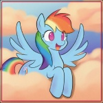 bio-999 blue_fur blush cloud cutie_mark equine female feral friendship_is_magic fur hair horse lying multi-colored_hair my_little_pony open_mouth pegasus pink_eyes pony rainbow_dash_(mlp) rainbow_hair smile spread_wings wings   Rating: Safe  Score: 5  User: mlp  Date: June 20, 2013