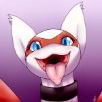 blue_eyes blush collar cute dragon female latias legendary_pokémon looking_at_viewer mawshot nintendo open_mouth pokémon red_feathers scalie shikaro smile solo tongue tongue_out video_games white_feathers wings   Rating: Safe  Score: 28  User: N7  Date: April 17, 2015