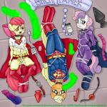 anthro anthrofied apple_bloom_(mlp) applejack_(mlp) cosplay cub female friendship_is_magic group mare_do_well_(mlp) my_little_pony smudge_proof supergirl superman sweetie_belle_(mlp) young   Rating: Explicit  Score: 4  User: Smudge_Proof  Date: September 27, 2014