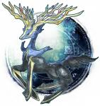 ambiguous_gender antlers blue_eyes cervine deer feral horn kann1kura_(kanna) legendary_pokémon looking_at_viewer mammal nintendo pokémon solo video_games xerneas   Rating: Safe  Score: 6  User: DeltaFlame  Date: October 18, 2014