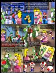 alcohol beverage blonde_hair blue_eyes blush comic condom crown curtains dinosaur ear_piercing egg english_text female food group hair hi_res human kitsune_youkai male mammal mario mario_bros mushroom nintendo piercing pillar princess_peach text video_games window wine yoshi yoshi_(character)  Rating: Questionable Score: 22 User: TwilightStormshi Date: February 17, 2016