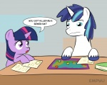 2014 blue_eyes blue_hair dice duo empyu english_text equine female friendship_is_magic hair horn male mammal my_little_pony open_mouth purple_eyes role-playing_game shining_armor_(mlp) text twilight_sparkle_(mlp) unicorn young   Rating: Safe  Score: 12  User: SlayerBVC  Date: May 05, 2015