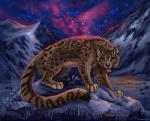 2014 ambiguous_gender blue_eyes cat detailed_background feline feral flashw ice lazy leopard leopard_spots mammal night outside paws sky snow snow_leopard solo spots star winterRating: SafeScore: 11User: MillcoreDate: July 09, 2016