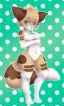 anthro breasts featureless_breasts featureless_crotch feline female looking_at_viewer mammal nude smile solo standing thick_thighs wide_hips yuxareRating: SafeScore: 1User: Cat-in-FlightDate: October 21, 2016