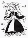 "bone cephalopod clothing dress female fin fish human kuroirozuki maid maid_uniform mammal marie_(skullgirls) marine monochrome octopus ribs skullgirls solo tentacle_hair tentacles underwater water young  Rating: Safe Score: 2 User: ROTHY Date: June 06, 2015"""