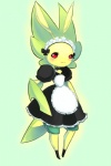 antennae arthropod blush female insect joltik_(artist) leavanny maid maid_uniform nintendo pokémon red_eyes video_games   Rating: Safe  Score: 2  User: Juni221  Date: May 30, 2013