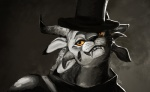2012 charr feline female guild_wars hat plain_background portrait solo tasanko top_hat video_games yellow_eyes   Rating: Safe  Score: 66  User: Kerrija  Date: October 05, 2012