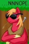 big_macintosh_(mlp) blonde_hair crossed_arms denied english_text equine eyewear feral forest freckles friendship_is_magic hair hat hooves horse image_macro male mammal my_little_pony nope outside pony reaction_image solo sunglasses texasuberalles text tree upright wood yoke  Rating: Safe Score: 13 User: Silkywere Date: November 07, 2012