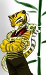 anthro feline female kung_fu_panda master_tigress master_viper one_eye_closed tiger whiskers wink   Rating: Safe  Score: 5  User: Foreman  Date: December 21, 2013