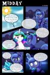 2015 comic cutie_mark dialogue digital_media_(artwork) duo english_text equine eyes_closed fan_character female feral friendship_is_magic fur hair horn long_hair mammal multicolored_hair my_little_pony open_mouth paper_(mlp) pillow princess_celestia_(mlp) princess_luna_(mlp) purple_eyes text unicorn vavacung white_fur winged_unicorn wings  Rating: Safe Score: 11 User: Robinebra Date: September 12, 2015
