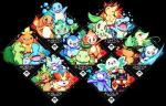 2016 alpha_channel avian bird bulbasaur canine charmander chespin chikorita chimchar cyndaquil feline fennekin feral flaming_tail flora_fauna fox froakie litten mammal marine mudkip nintendo oshawott owl pinniped piplup plant pokémon popplio quas-quas rowlet snivy squirtle starter_trio tepig torchic totodile treecko turtwig video_games