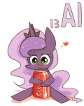 """2015 aluminium beverage blush can crown equine female friendship_is_magic horn joycall3 mammal my_little_pony princess_luna_(mlp) soda soda_can solo sparkles winged_unicorn wings  Rating: Safe Score: 4 User: 2DUK Date: June 10, 2015"""""""