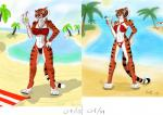 2015 <3 beach bikini clothing drink fan_character feline female holidays kung_fu_panda licking mammal monochrome panties plejman sea seaside solo standing straw stripes swimsuit tiger tongue tongue_out underwear water  Rating: Safe Score: 3 User: Plejman Date: July 17, 2015