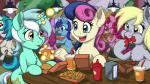 2015 blonde_hair blue_eyes blue_hair bonbon_(mlp) burger colgate_(mlp) cup cutie_mark derp_eyes derpy_hooves_(mlp) equine female food friendship_is_magic glowing green_hair group hair hay headphones horn horse ketchup latecustomer levitation lyra_heartstrings_(mlp) magic mammal messy_eater my_little_pony pegasus pink_hair pinkie_pie_(mlp) pony two_tone_hair unicorn vinyl_scratch_(mlp) white_hair wings yellow_eyes   Rating: Safe  Score: 8  User: 2DUK  Date: April 10, 2015