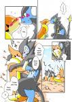 blush comic floatzel kemono kissing luxray nintendo pokémon romantic translated unknown_artist video_games yellow_eyes   Rating: Explicit  Score: 1  User: KemonoLover96  Date: March 27, 2015