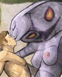 2014 anthro anthrofied arbok bald breasts cobra eyelashes eyes_closed female hair hattonslayden hi_res human interspecies kissing male mammal nintendo nipples pecs pokémon poképhilia reptile scalie short_hair size_difference snake standing straight video_games   Rating: Questionable  Score: 8  User: forkU  Date: April 23, 2014