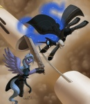 advent_children alipes cloud cloud_strife equine female feral final_fantasy friendship_is_magic horn horse my_little_pony nightmare_moon_(mlp) pony princess_luna_(mlp) sephiroth sword video_games weapon winged_unicorn wings   Rating: Safe  Score: 3  User: slyroon  Date: August 12, 2013