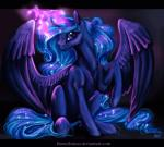 2015 animated black_background blue_eyes blue_feathers blue_fur blue_hair equine equum_amici feathered_wings feathers female feral friendship_is_magic fur hair horn lanteria looking_at_viewer magic mammal my_little_pony princess_luna_(mlp) simple_background solo winged_unicorn wings  Rating: Safe Score: 12 User: ConsciousDonkey Date: January 12, 2016