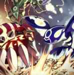 2015 ambiguous_gender battle claws dragon feral fish flying groudon group kyogre legendary_pokémon marine markings mega_evolution mega_rayquaza nintendo open_mouth outside pokémon primal_groudon primal_kyogre rayquaza scalie sharp_teeth spikes teeth video_games water ぶくろて_(artist)   Rating: Safe  Score: 3  User: N7  Date: February 08, 2015