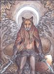 2015 anthro belt brown_fur brown_hair canine claws cloak clothing fox fur gloves grass hair line_art long_hair looking_at_viewer male mammal melee_weapon moon orange_eyes pants portrait rukis solo sword tree weapon  Rating: Safe Score: 8 User: TheGreatWolfgang Date: January 11, 2015""