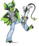 2007 <3 anthro attack bat duo female green_eyes green_hair green_markings green_tongue hair holly_massey leg_grab mammal markings marsupial opossum seux size_difference virginia_opossum   Rating: Safe  Score: 0  User: The Dog In Your Guitar  Date: May 12, 2007