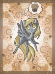 2013 blonde_hair chibi cutie_mark derp_eyes derpy_hooves_(mlp) digital_media_(artwork) equine female feral food friendship_is_magic fur grey_feathers grey_fur hair hi_res magic mammal muffin my_little_pony nude pegasus raised_leg raptor007 smile solo thought_bubble wings yellow_eyes yellow_fur   Rating: Safe  Score: 1  User: GameManiac  Date: March 23, 2015