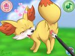 """<3 anatomically_correct animal_genitalia canine canine_pussy drooling duo female fennekin feral fingers fox furreon looking_back looking_pleasured mammal nintendo pokémon pokémon_amie pussy saliva solo_focus tongue tongue_out video_games  Rating: Explicit Score: 33 User: ricepeas Date: August 10, 2014"""""""
